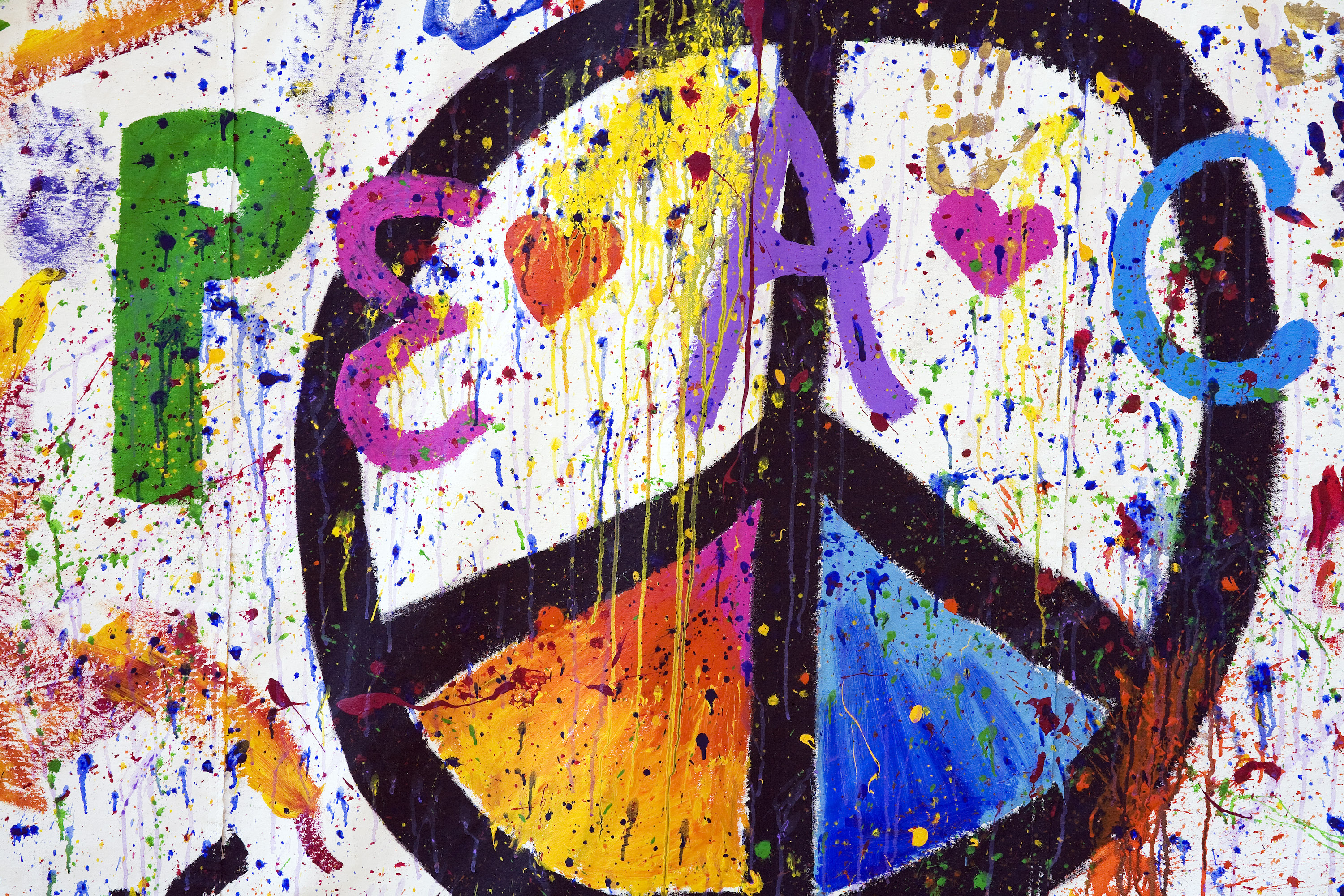 Peace Sign Painted
